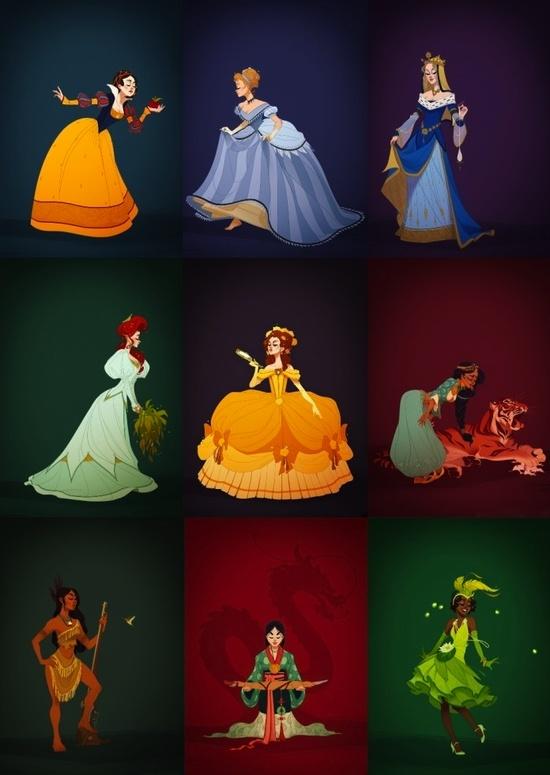 Disney princesses in history