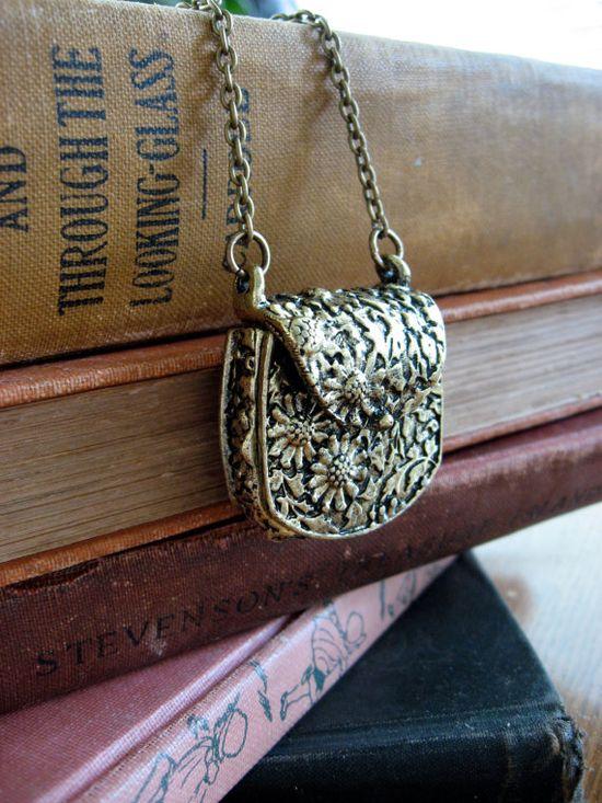 {Etsy} Violette Tiny Purse Necklace by sodalex