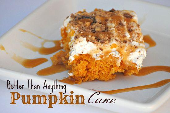 The Farm Girl Recipes: Better Than Anything Pumpkin Cake#recipe#pumpkin#cake