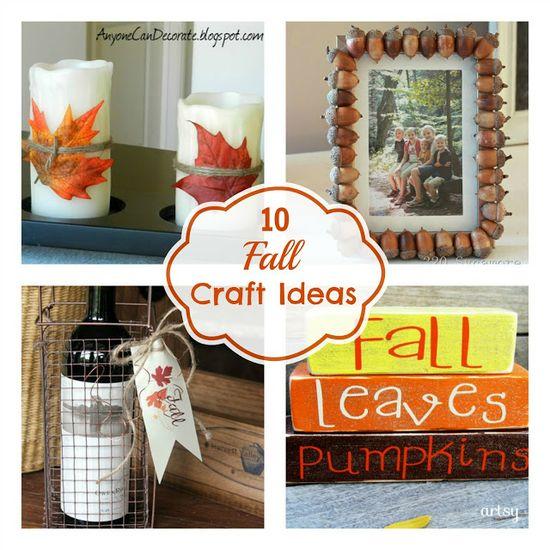 10 Fall Craft Ideas