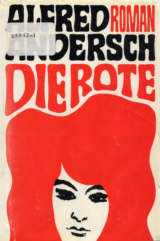 cover of 'die rote' (designer unknown)#pop design