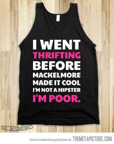 Thrifting!