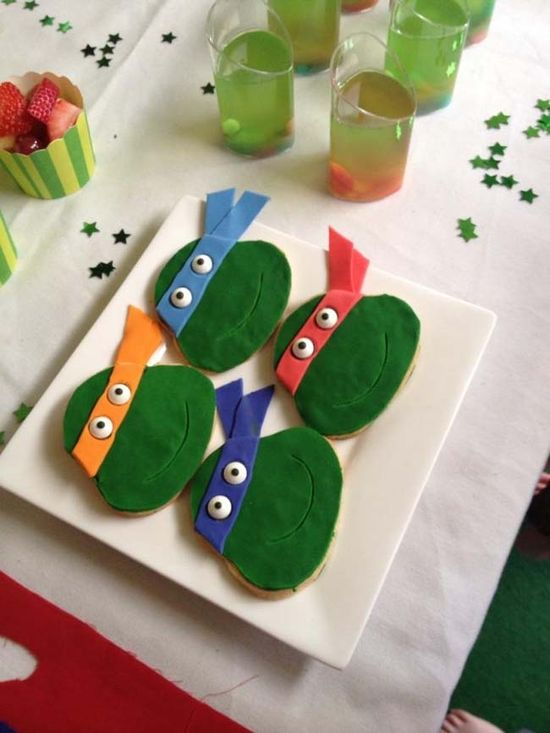 Teenage Mutant Ninja Turtle Party Ideas www.spaceshipsand...