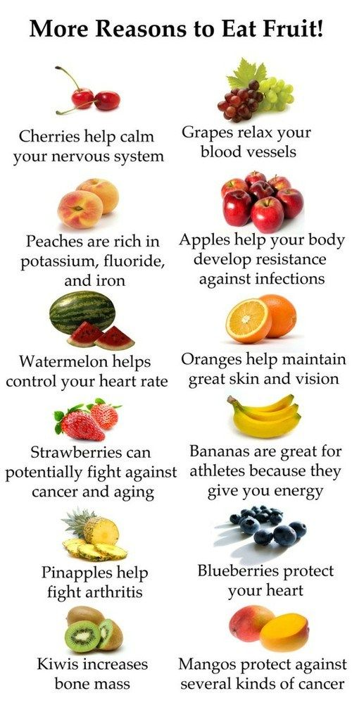 Reasons to eat fruit. I could eat fruit all day long!