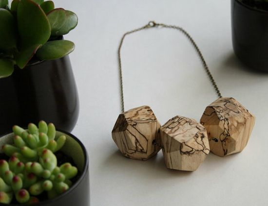 Wooden necklace by Alchemy. #MalloryMcInnis