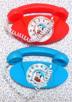 Retro toy telephones