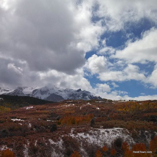 A scenic view between Ridgeway & #Telluride, #Colorado.  @Visit Telluride #photography #ColoradoRockies #snow #travel #roadtrip