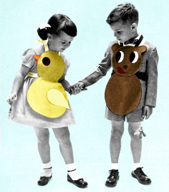 1950s Sewing Pattern Childrens Animal Bib Aprons Vintage PDF. 4.00, via Etsy.