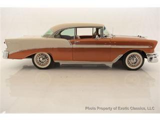 Hmmm, interesting color...1956 Chevrolet Bel Air.
