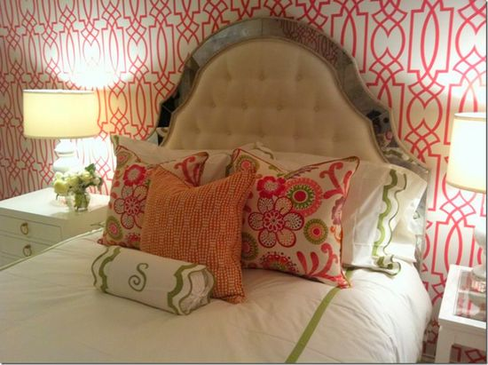 Bedroom for a teenage girl designed by Amy Howard.