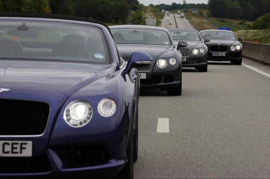 Bentley COntinental GT V8 2012 and GTC headed to 24 hours of le mans!