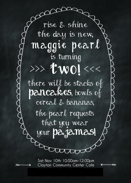 his story blog // pancakes and pajamas party