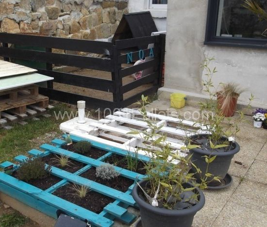Pallets Garden decoration and dog house