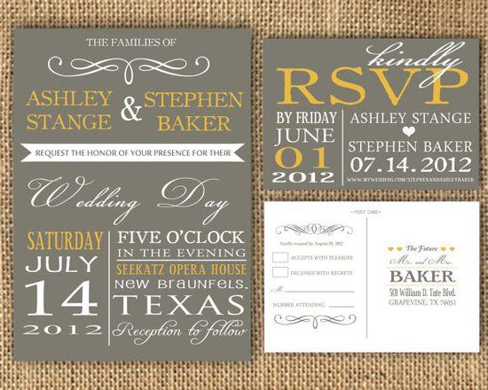 handmade wedding invitation #etsy