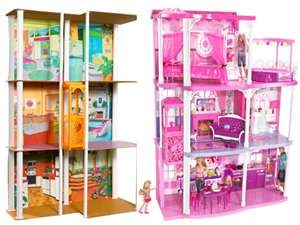 Barbie Townhouse from Late 70's and Barbie Dreamhouse.