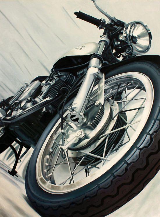 """""""Vintage Ducati"""" by Guenevere Schwien #motorcycle #motorbike"""