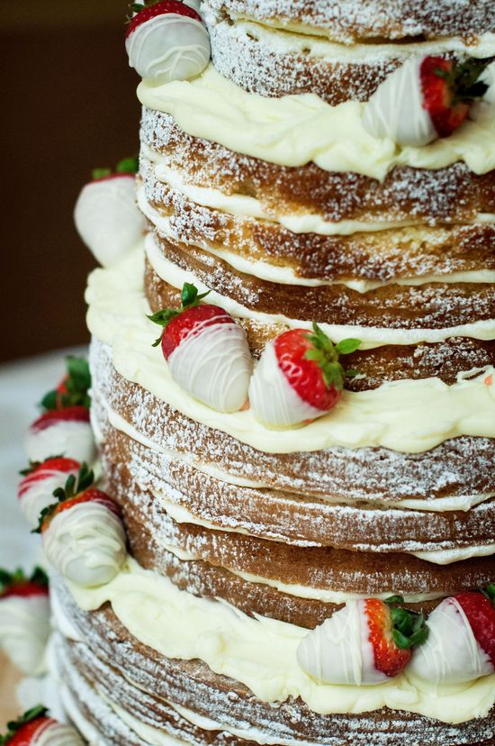 Rustic White Chocolate Wedding Cake