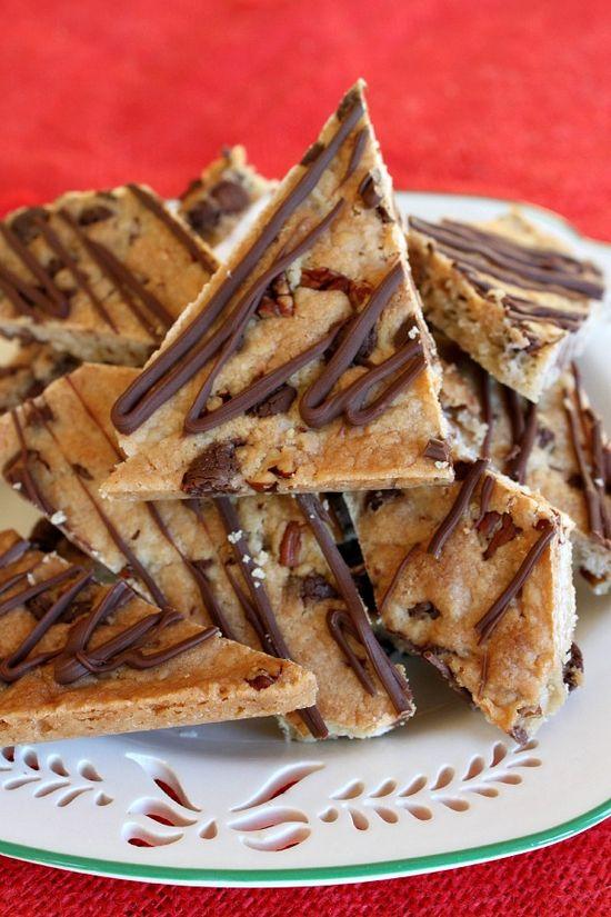 Chocolate Chip Cookie Brittle - <a href='http://RecipeGirl.com' target='_blank' rel='nofollow'>RecipeGirl.com</a>