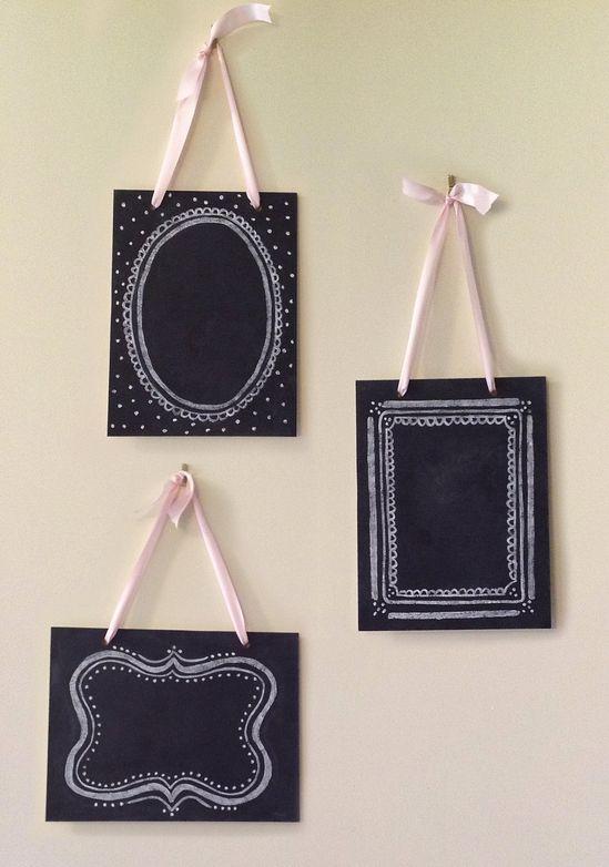Set of 3 Vintage Chalkboards -