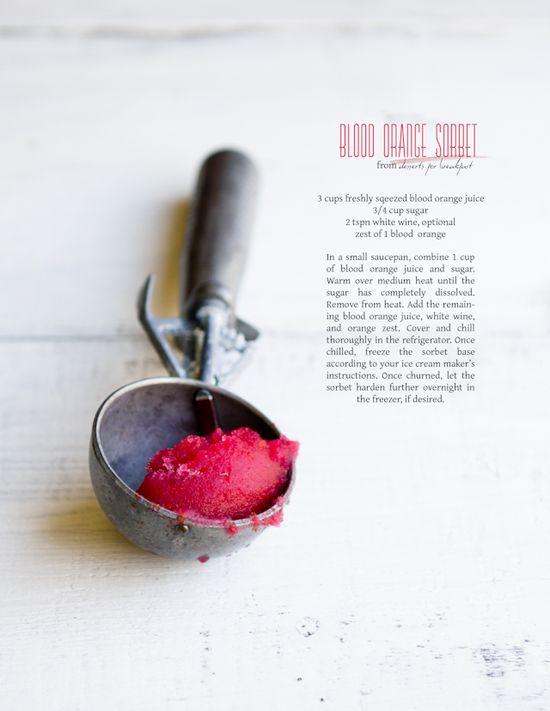 Blood orange sorbet By Dessert for Breakfast