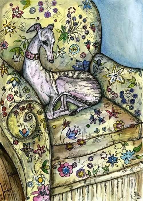 Whippet art #Cute pet #pet boy #pet girl