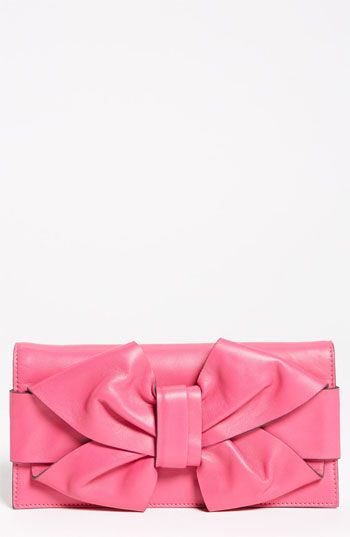 Valentino Bow Leather Clutch