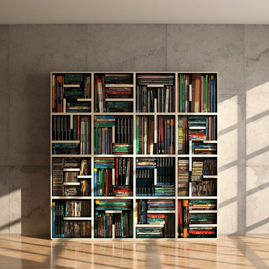 Redo Your Bookcase Bookshelf. OMG, this is cool.