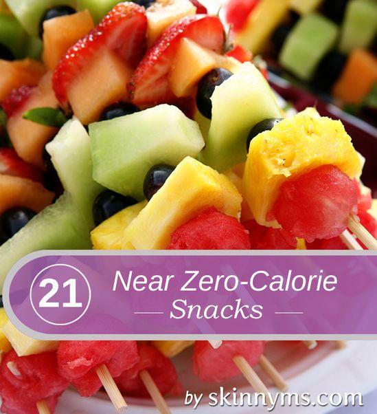 21 Near Zero Calorie Snack Ideas! Yum!! #skinnyms #cleaneating #snacks