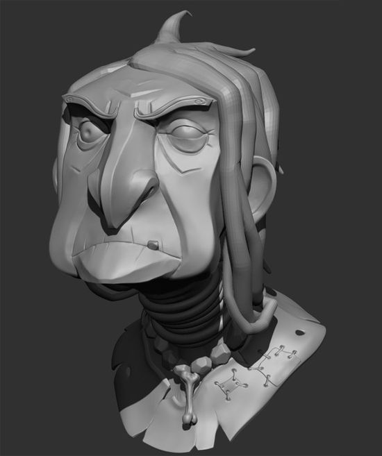 3DOcean Old Witch Bust 2657368