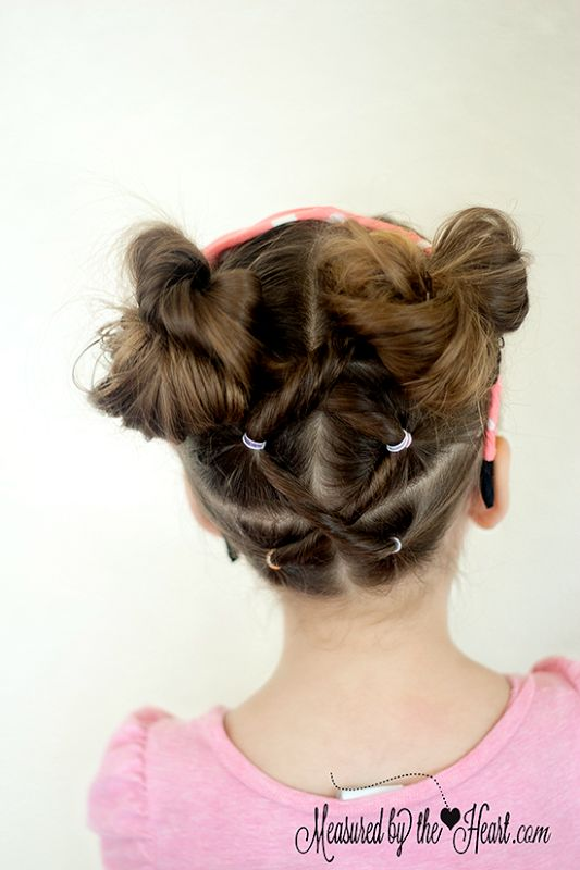 Little Girls Hairstyle Tutorial by Measured by the Heart