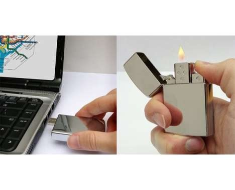 Light Up Data Storage  This Flash Drive Lighter