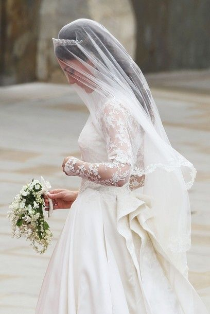 Kate Middleton on her way into Westminster Abbey on her wedding day, April 29, 2011.
