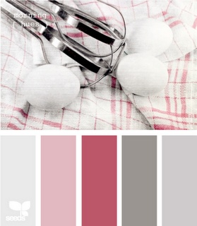 pink & gray color scheme