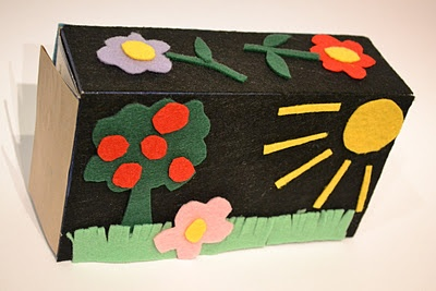 Felt boxes...  Super cute idea!