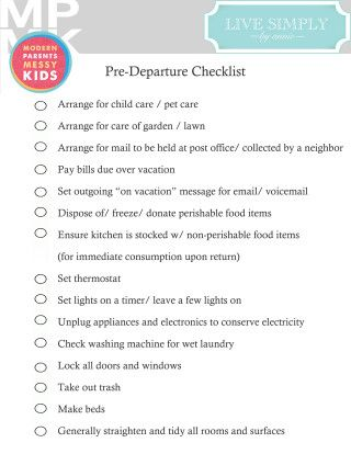 printable checklist for preparing your home before travel
