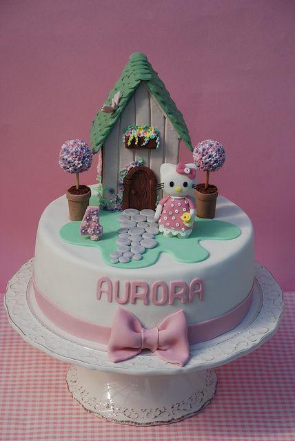 cake hello kitty house by Alessandra Cake Designer, via Flickr