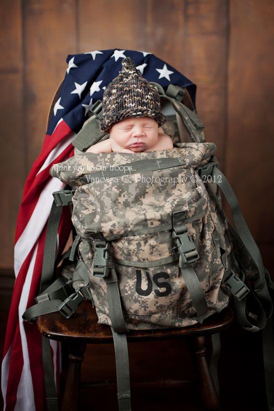Newborn in Backpack