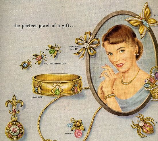 1950 jewelry  ad