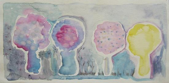 Pastels Trees for Childrens Room Home  Decor par ronitshwartz, $30.00