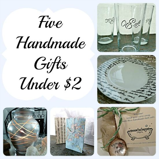 5 Quick Handmade DIY Gifts - great hostess gifts!  #Christmas #Crafts