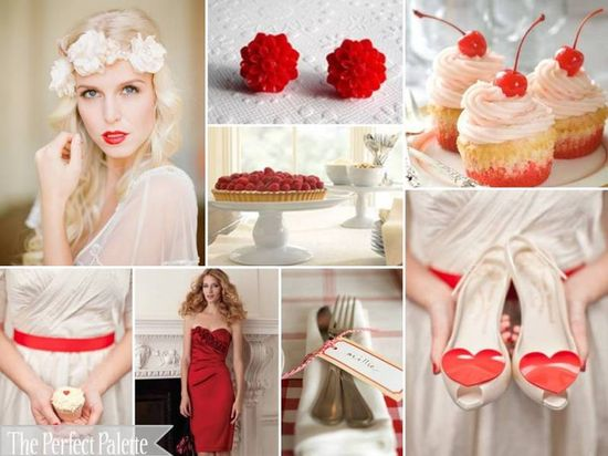 #red and #white #wedding