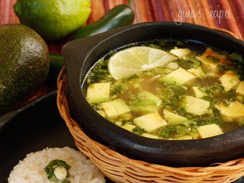 Chicken and Avacado soup.