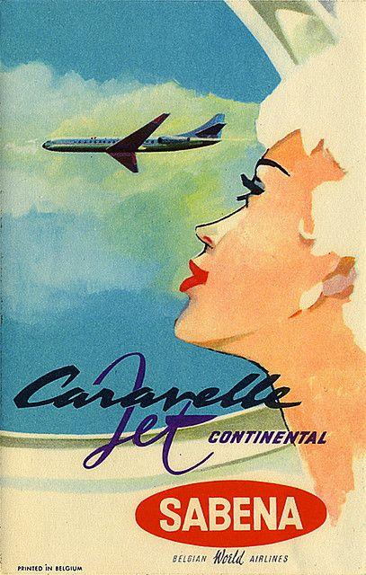 Vintage Sabena airline poster