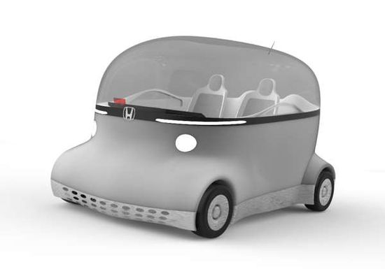 The Honda Puyo Concept Car Offers an Uninterrupted Outdoor View trendhunter.com