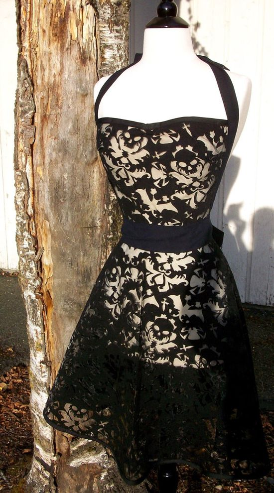I like the idea of having a lace apron...