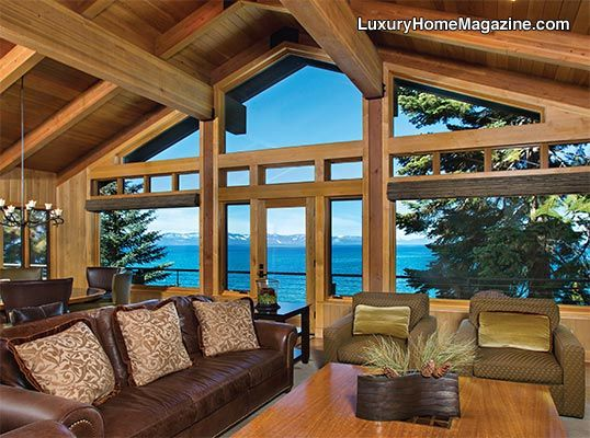 Private Estate Overlooking Lake Tahoe #luxury #homes #house #views #cabin #lodge #home #design #interior #decor