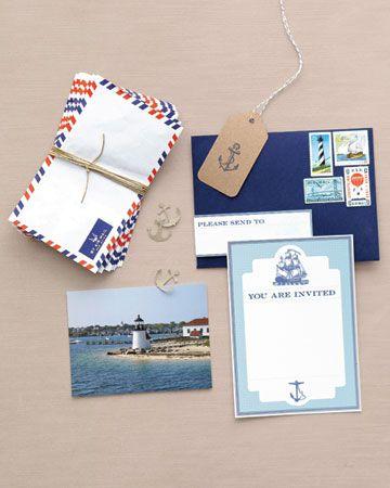 Nautical Wedding Stationary