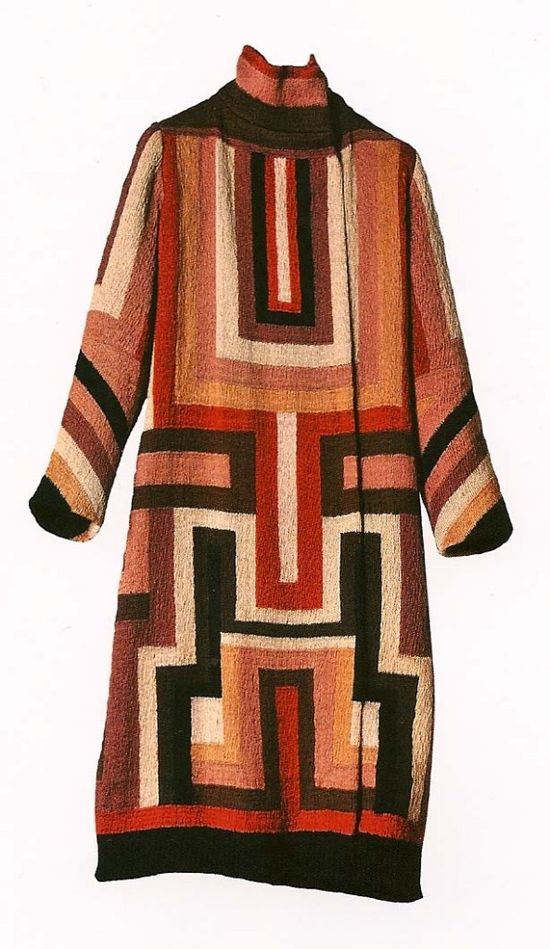 Coat made for Gloria Swanson, by Sonia Delaunay, 1923-24.  Covet