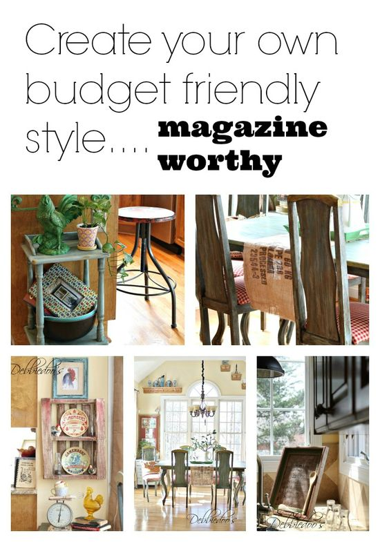 Kitchen decor on a small budget and creating your own unique style that can be magazine worthy