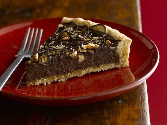 chocolate, hazelnut & orange tart